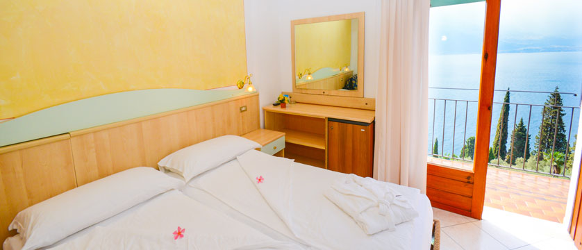 Hotel Villa Dirce, Limone, Lake Garda, Italy - Bedroom with lake-view balcony.jpg